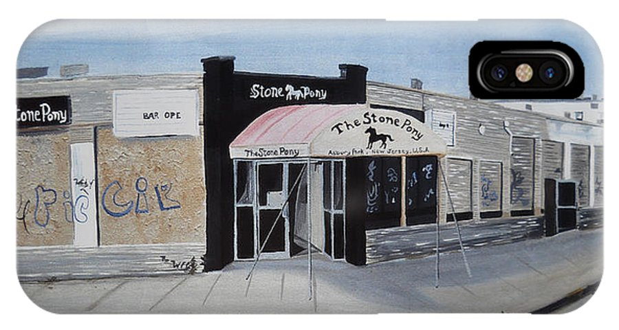 Acrylic Painting Of The Stone Pony IPhone X Case featuring the painting End Of An Era by Patricia Arroyo