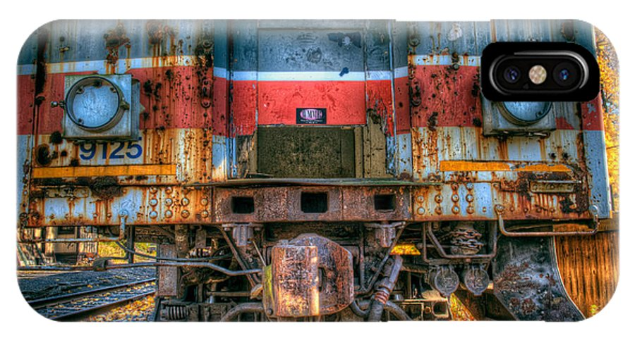 Train IPhone X Case featuring the photograph End Of The Line by William Jobes