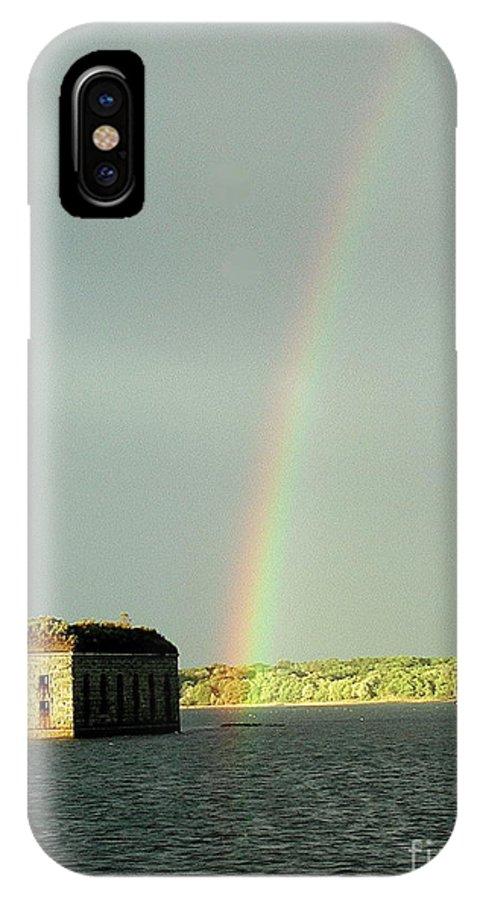 Rainbow IPhone X Case featuring the photograph End of the Rainbow by Faith Harron Boudreau