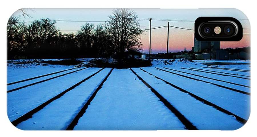 Sunset IPhone Case featuring the photograph End Of The Tracks by Angus Hooper Iii