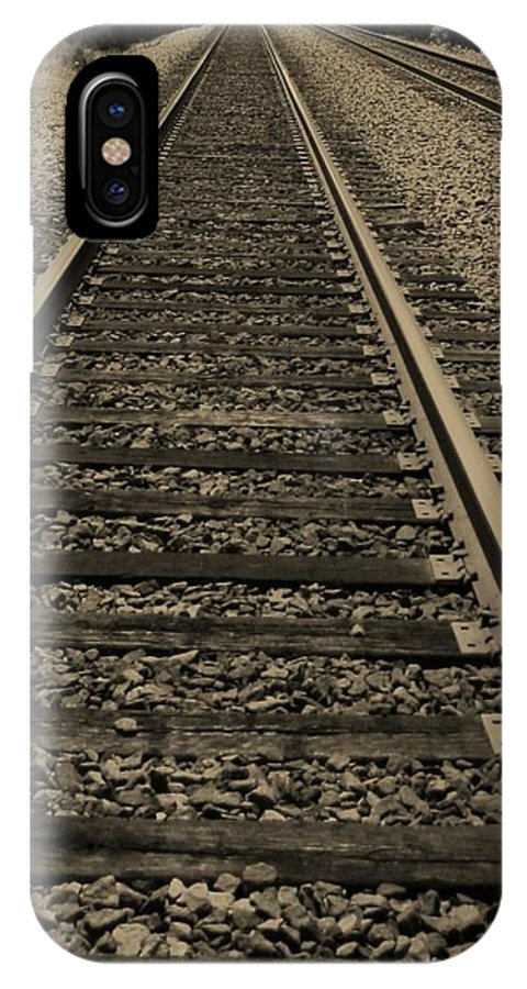 Railroad IPhone X Case featuring the photograph Endless Journey by Ginger Adams
