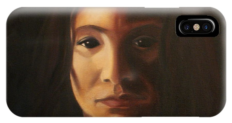 Woman In The Dark IPhone X Case featuring the painting Endure by Toni Berry