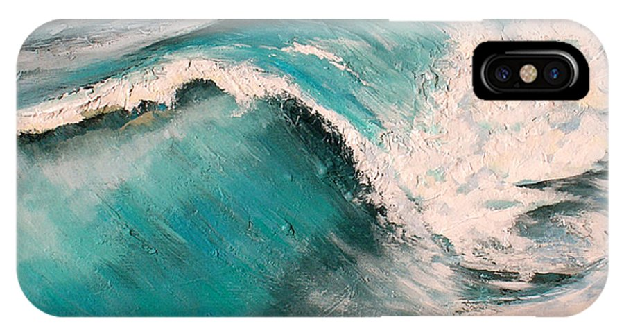 Waves IPhone X Case featuring the painting Energy by Racquel Morgan