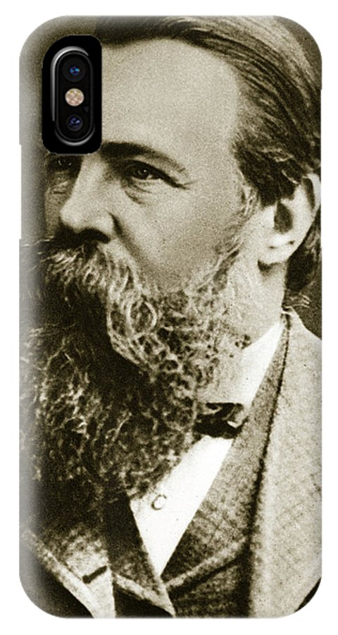 Engels IPhone X Case featuring the photograph Engels by German School
