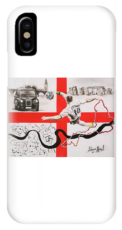 England IPhone X Case featuring the painting England by Shawn Morrel