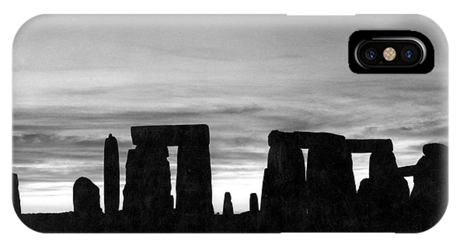 Ancient IPhone X Case featuring the photograph England: Stonehenge by Granger