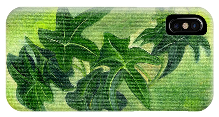 English Ivy IPhone X Case featuring the painting English Ivy by FT McKinstry