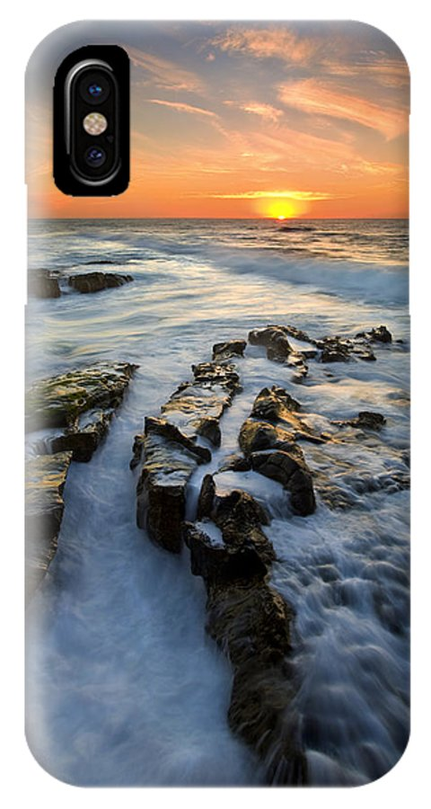 Sunset IPhone X Case featuring the photograph Engulfed by Mike Dawson