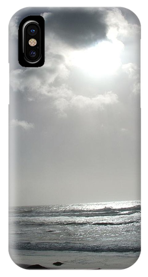 Black And White IPhone X Case featuring the photograph Enlightened by Shari Chavira