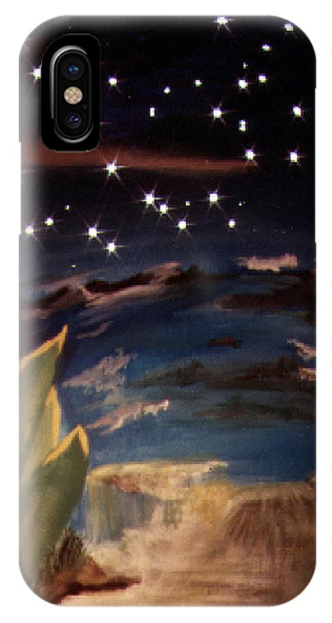 Surreal IPhone X Case featuring the painting Enter My Dream by Steve Karol