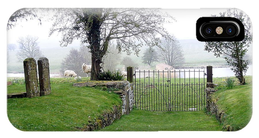 Sheep IPhone X Case featuring the photograph Enter Through The Gates With Singing by Mindy Newman