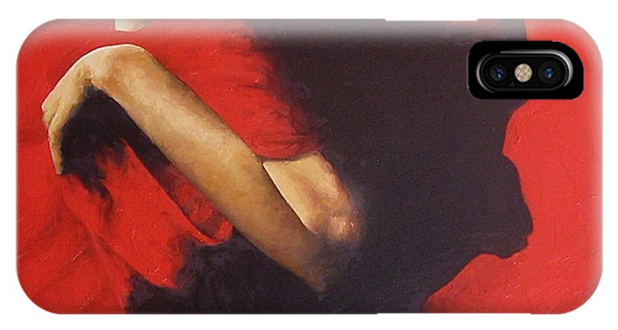 Oil Painting Original Canvas Linen Nude Figurative Traditional Realistic IPhone Case featuring the painting Entrapped by Trisha Lambi