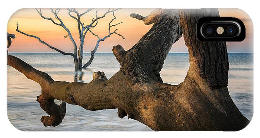 Beach IPhone X / XS Case featuring the photograph Charleston South Carolina Boneyard Beach Sunrise Scene by Keith Briley