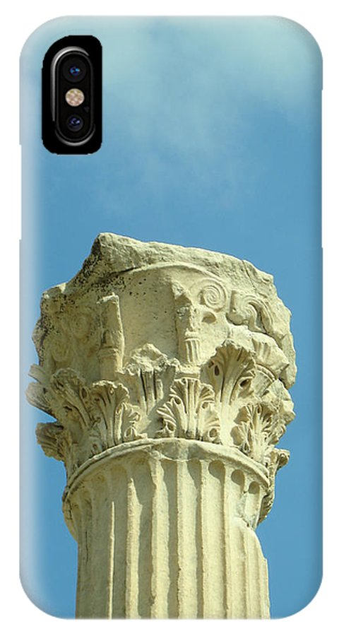 Column IPhone X Case featuring the photograph Ephesian Column by Jennifer Kelly