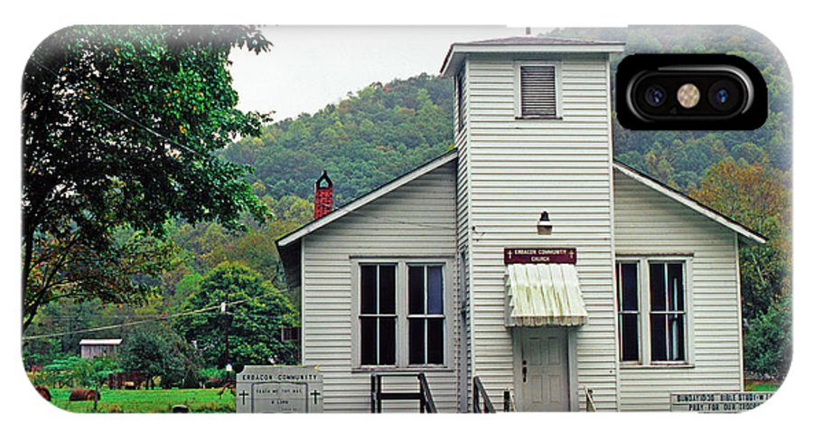 West Virginia IPhone X Case featuring the photograph Erbacon Community Church by Thomas R Fletcher