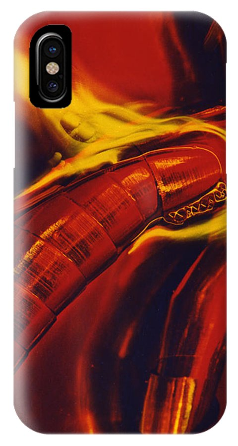 Abstract IPhone X Case featuring the photograph Eritico by David Rivas