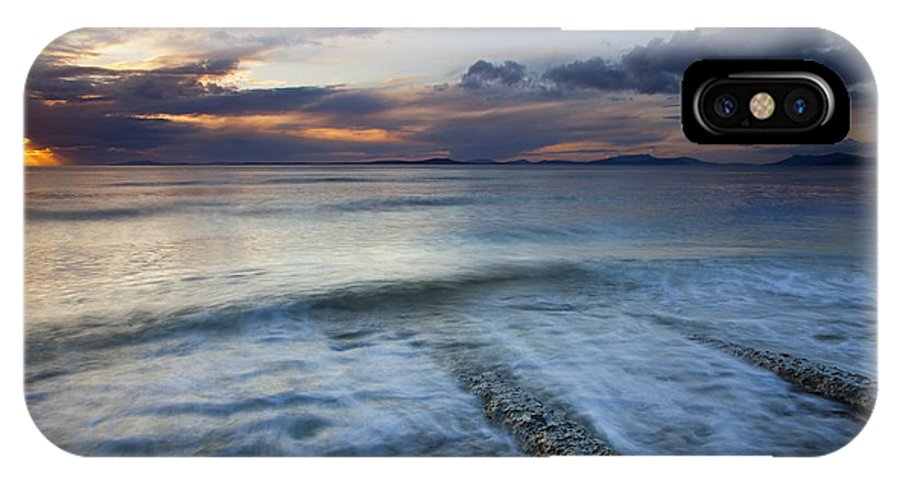 Boat Ramp IPhone X Case featuring the photograph Eroded By The Tides by Mike Dawson