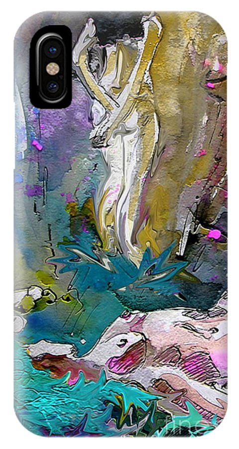 Miki IPhone Case featuring the painting Eroscape 1104 by Miki De Goodaboom