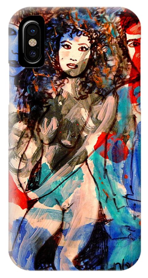 Erotic IPhone X / XS Case featuring the painting Erotic Nude 2 by Natalie Holland