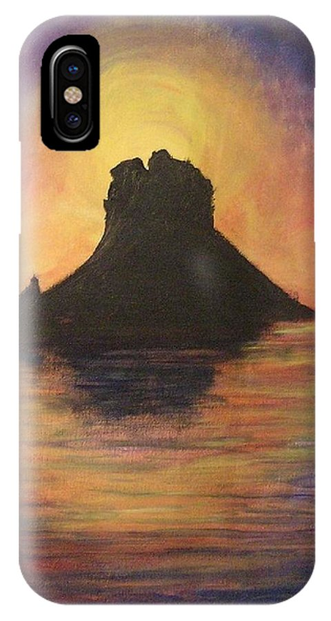 Sunset IPhone Case featuring the painting Es Vedra Sunset I by Lizzy Forrester