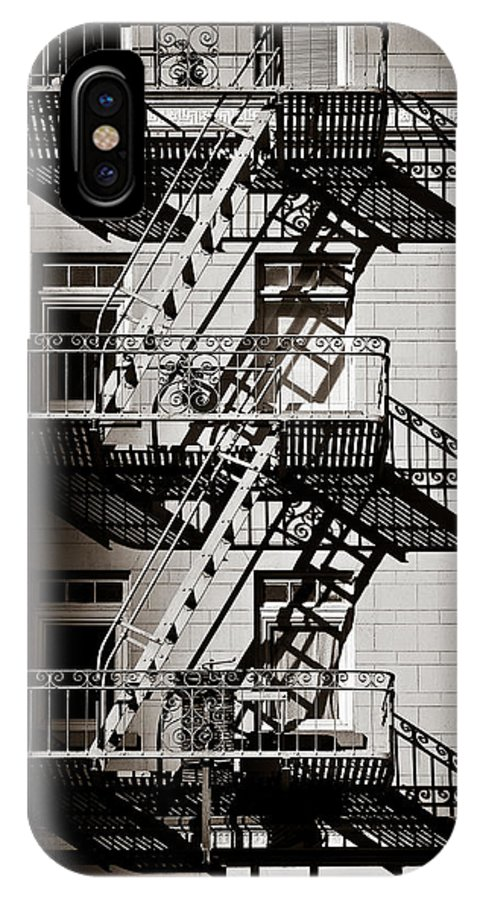 Fire Escape IPhone X Case featuring the photograph Escape by Dave Bowman