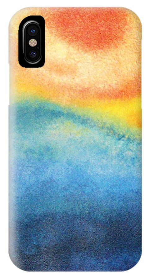 Escape IPhone X Case featuring the painting Escape by Todd Hoover