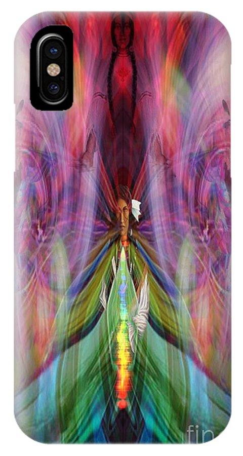 IPhone X / XS Case featuring the digital art Esceheman-earthgoddess by Rich Baker