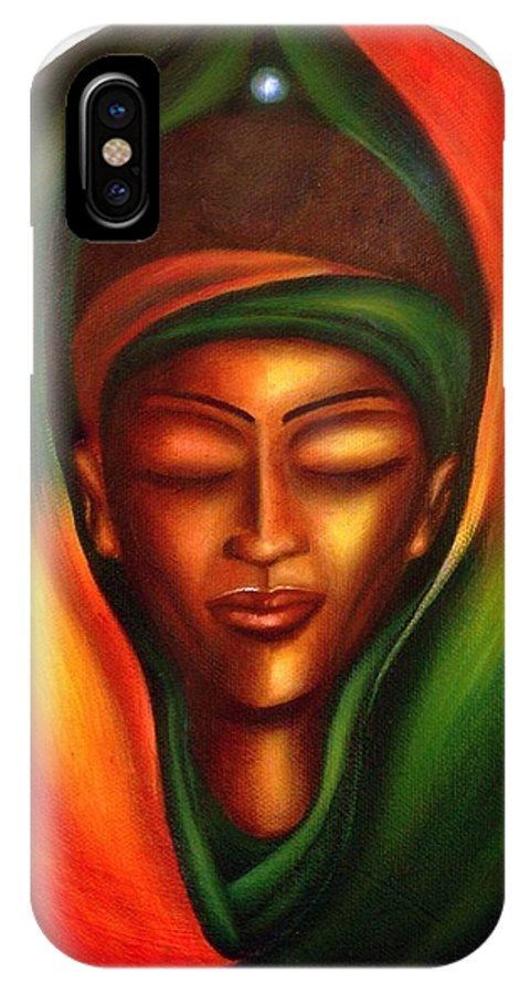 Beauty IPhone X Case featuring the painting Essence by Lee Grissett