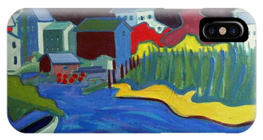 Essex River IPhone X Case featuring the painting Essex River by Debra Bretton Robinson