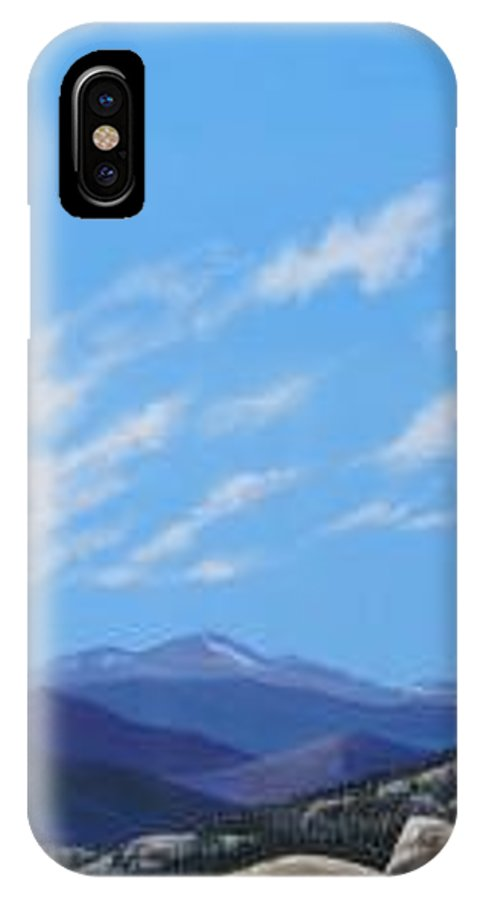Estes Park IPhone X Case featuring the painting Estes Overlook by Hunter Jay