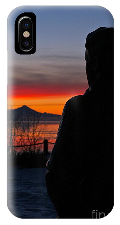 Silhouette IPhone X Case featuring the photograph Eternal Sunset by Rick Monyahan