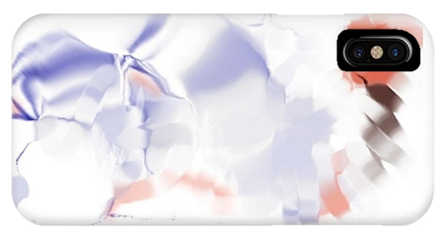 Ethereal IPhone X Case featuring the digital art Ethereal by Ron Bissett