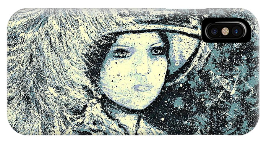 Woman IPhone X Case featuring the painting Evalina by Natalie Holland