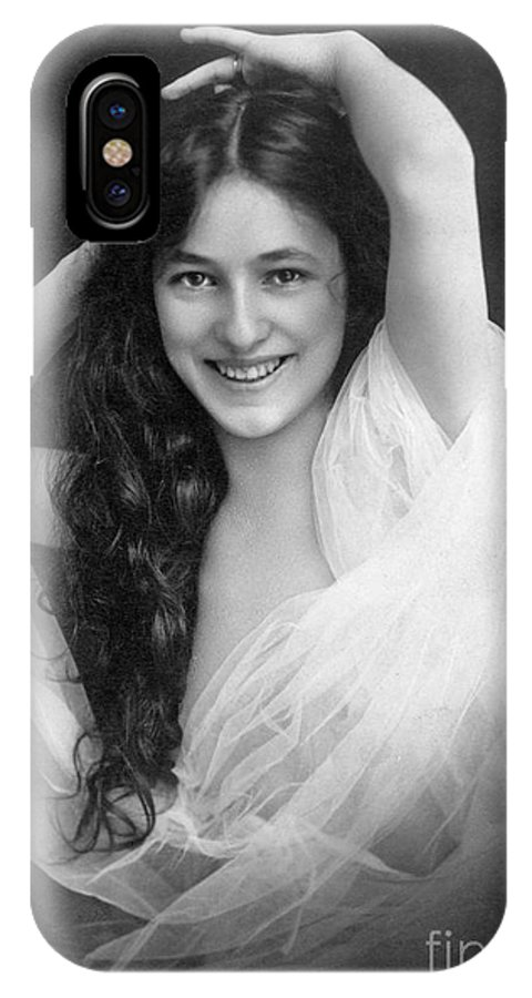 1901 IPhone X Case featuring the photograph Evelyn Nesbit (1885-1967) by Granger