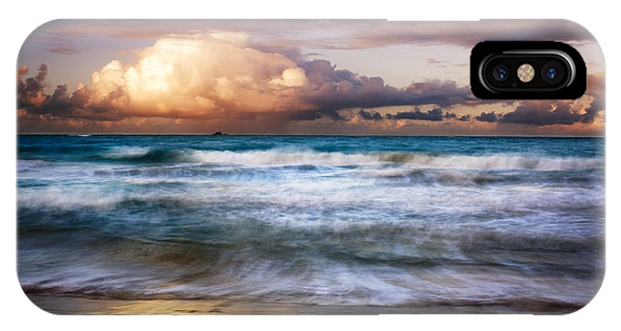 Landscape IPhone X Case featuring the photograph Evening At Kailua Beach by Charmian Vistaunet