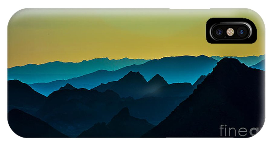 Mountains IPhone X Case featuring the photograph Evening At Lake Mead by Stephen Whalen