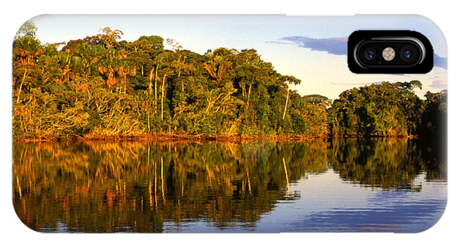 Ecuador IPhone X Case featuring the photograph Evening By Garzacocha Lake by Thomas R Fletcher