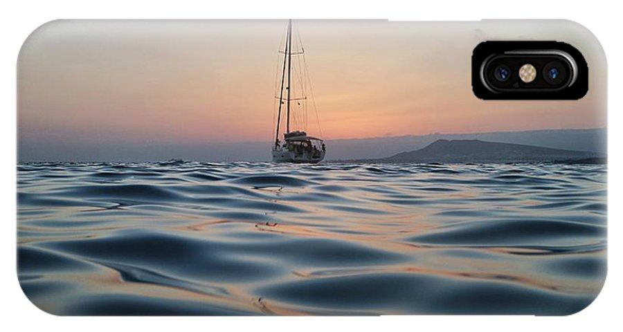 Sea IPhone X Case featuring the photograph Evening Calm by Josue Cleverdon de Leon