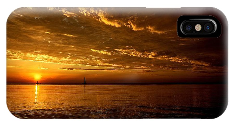 Lake Michigan IPhone X Case featuring the photograph Evening Drama by LuAnn Griffin