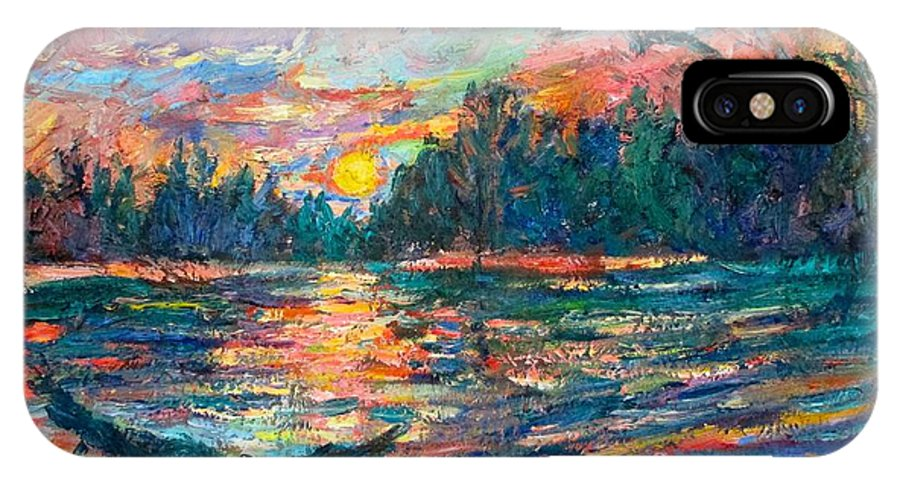 Landscape IPhone Case featuring the painting Evening Flight by Kendall Kessler