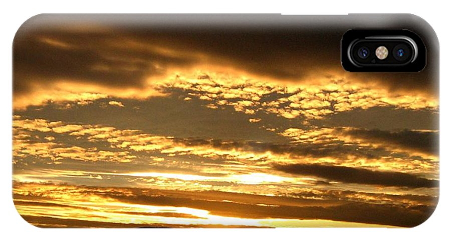 Sunset IPhone X Case featuring the photograph Evening Grandeur by Will Borden