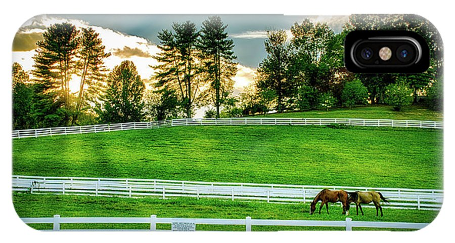 Tennessee IPhone X Case featuring the photograph Evening Graze In Tennessee by Mountain Dreams