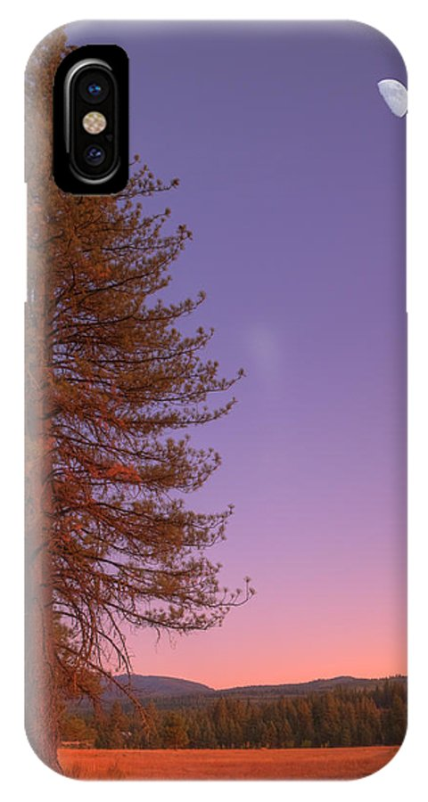 Valley IPhone X Case featuring the photograph Evening In The Valley by Mick Burkey