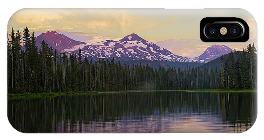 Amazing IPhone X Case featuring the photograph Evening Light over Scott Lake by Greg Vaughn - Printscapes