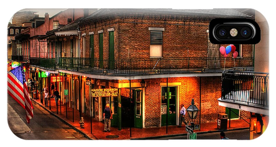 New Orleans IPhone X Case featuring the photograph Evening On Bourbon by Greg and Chrystal Mimbs