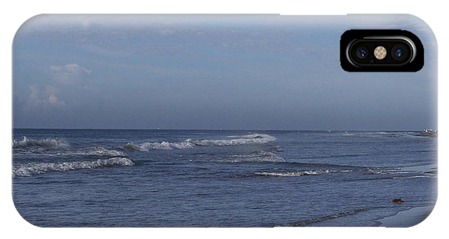 Ocean IPhone X Case featuring the photograph Evening On The Beach by Teresa Mucha