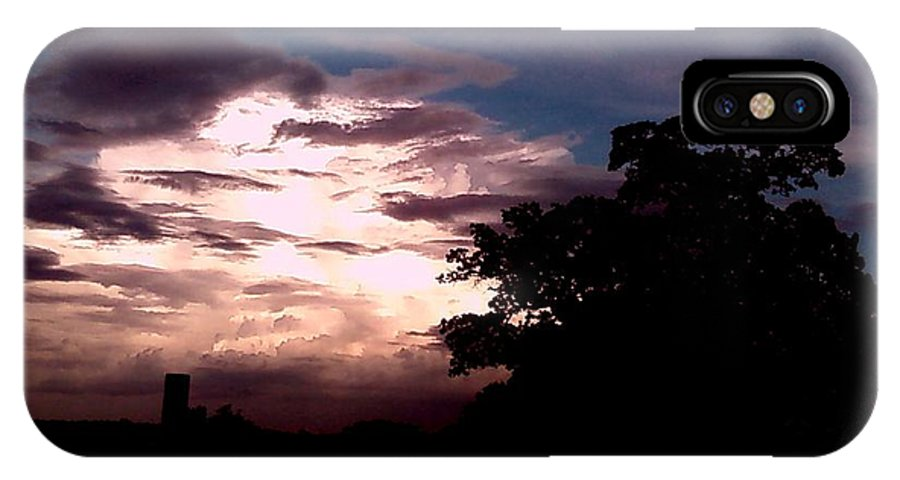 Sky IPhone X Case featuring the photograph Evening Sky 2 by Cindy New