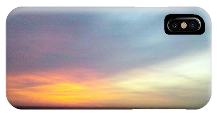 Sky IPhone X Case featuring the photograph Evening Sky 4 by Cindy New