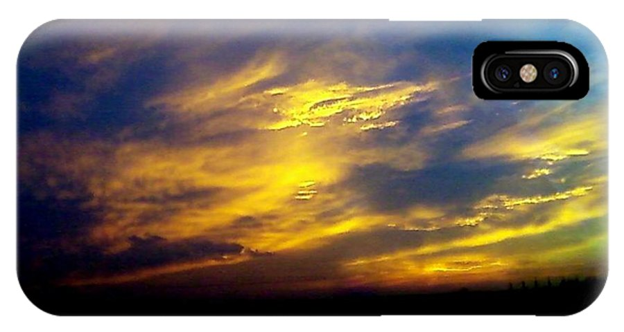 Sky IPhone X Case featuring the photograph Evening Sky 5 by Cindy New