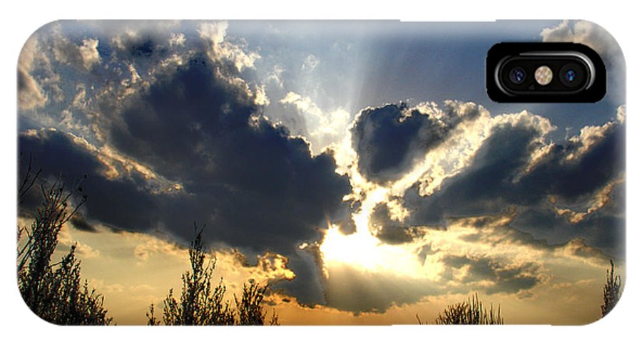 Landscape IPhone Case featuring the photograph Evening Sky by Steve Karol